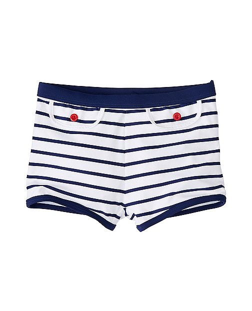 Girls Stripey Swim Boyshort by Hanna Andersson