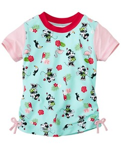 Girls Disney Minnie Mouse Sun-Ready Rash Guard by Hanna Andersson