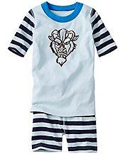 Kids Disney Beauty & The Beast Short John Pajamas In Organic Cotton by Hanna Andersson