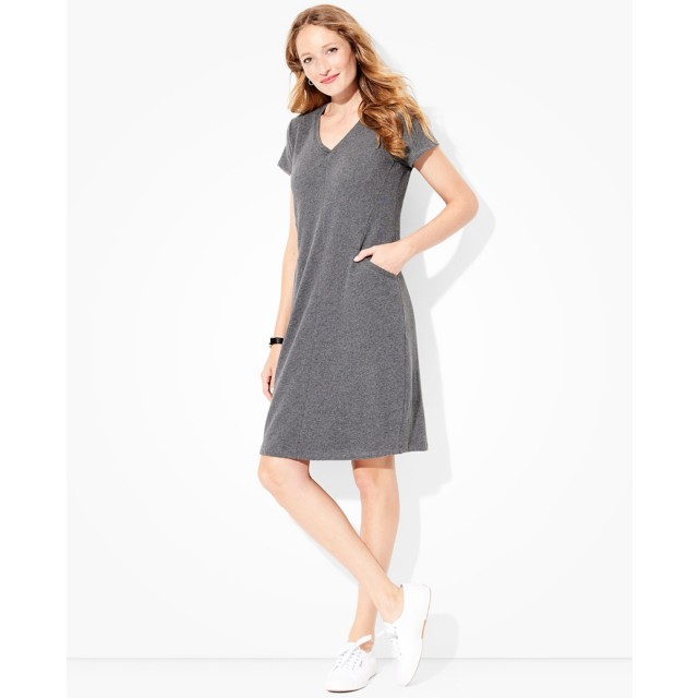 Women's Pocket Dress In Lightweight French Terry by Hanna Andersson