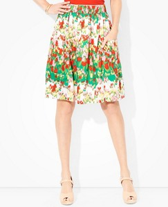 Women's Tulip Fields Pocket Skirt In Cotton Sateen by Hanna Andersson