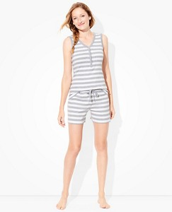 Women Henley Tank John Pajamas in Organic Cotton by Hanna Andersson