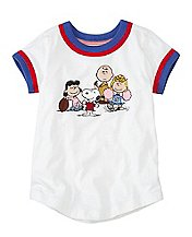 Peanuts Girls Art Tee in Supersoft Jersey by Hanna Andersson