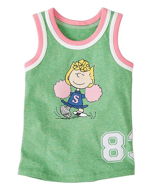 Peanuts Girls Tank in Supersoft Jersey by Hanna Andersson