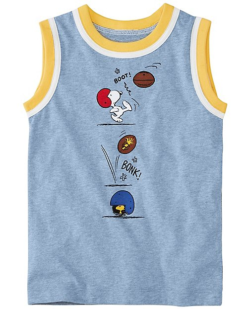 Peanuts Boys Tank in Supersoft Jersey by Hanna Andersson