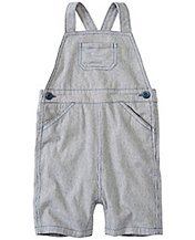Toddler Chambray Ticking Shortalls by Hanna Andersson