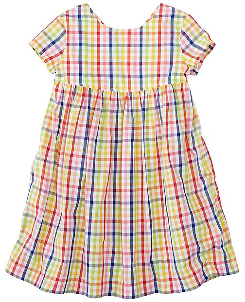 Girls Basketweave Plaid Dress by Hanna Andersson