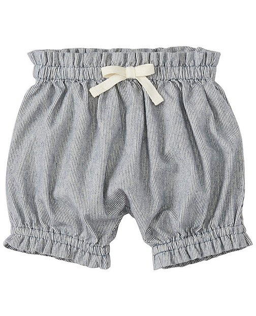 Toddler Comfy Chambray Ticking Bloomers by Hanna Andersson