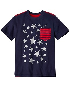 Boys Stars & Stripes Tee In Supersoft Jersey by Hanna Andersson
