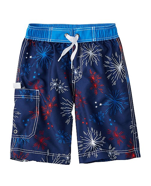 Boys Starry Board Shorts With UPF 50+ by Hanna Andersson