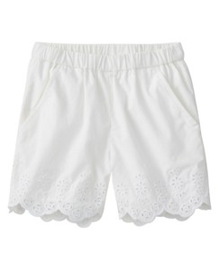 Girls Petal Shorts In Cotton Eyelet by Hanna Andersson