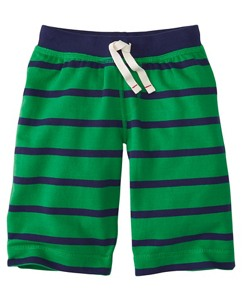 Boys Stripey Shorts In French Terry by Hanna Andersson