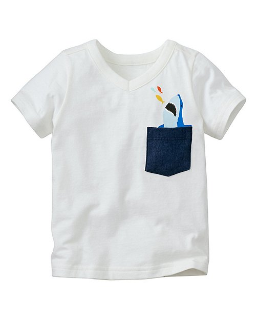 Toddler Peek Pocket Tee In Supersoft Jersey by Hanna Andersson
