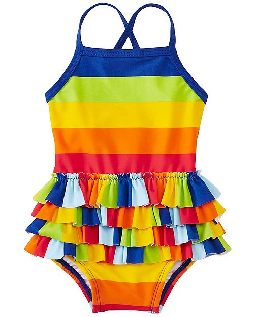 Baby Swimmy Ruffle One Piece by Hanna Andersson