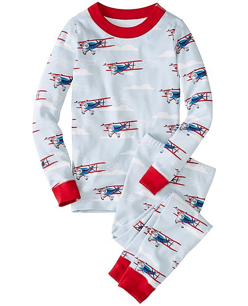 Kids Long John Pajamas In Organic Cotton | Boys Valentine's Shop