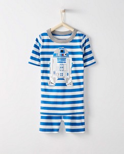 Kids Star Wars™ R2d2 Short John Pajamas In Organic Cotton by Hanna Andersson