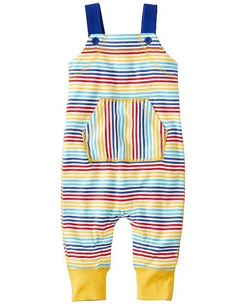 Baby Stripe Happy Overalls In Organic Cotton by Hanna Andersson