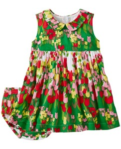 Baby Tulip Fields Dress In Cotton Sateen by Hanna Andersson