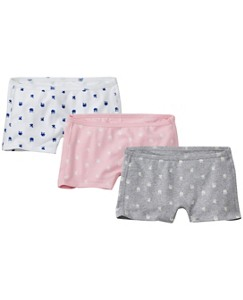Girlshort Unders 3 Pack In Organic Cotton With Stretch by Hanna Andersson