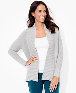 Women's Chunky-Luxe Cardigan In Cotton & Merino by Hanna Andersson