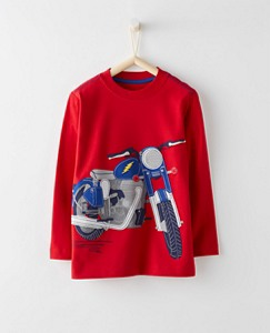 Boys Appliqué Tee In Supersoft Jersey by Hanna Andersson