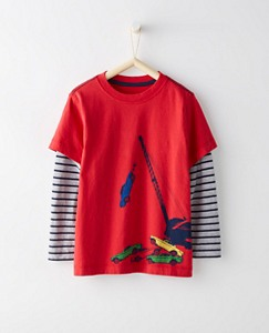 Boys Double Dare Tee In Supersoft Jersey by Hanna Andersson