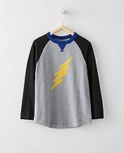 Boys Baseball Art Tee In Supersoft Jersey  by Hanna Andersson