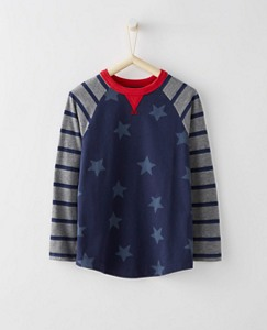 Boys Baseball Tee In Supersoft Jersey by Hanna Andersson