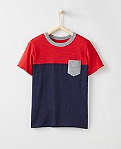 Boys Colorblock Tee In Slub Jersey  by Hanna Andersson