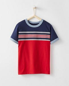 Boys Stripeblock Tee in Supersoft Jersey by Hanna Andersson