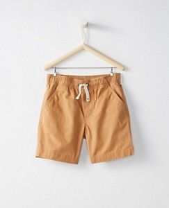 Boys Core Shorts In Canvas by Hanna Andersson