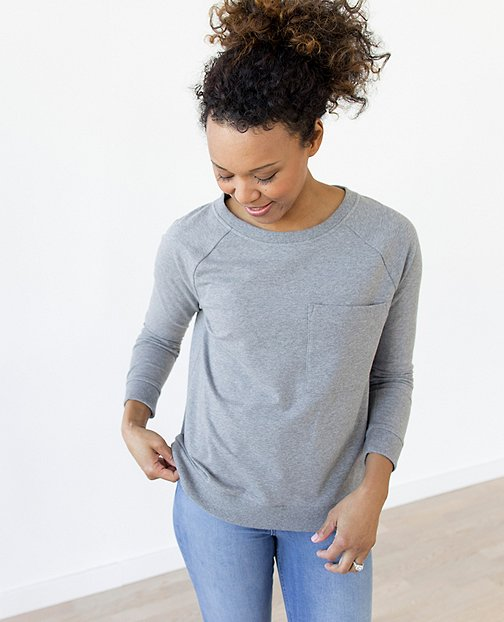 Women Luxe Sweatshirt In French Terry by Hanna Andersson