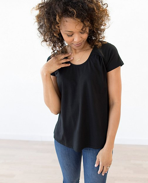 Women Drapey Scoopneck Top by Hanna Andersson