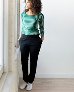 Women Portland Pant In French Terry by Hanna Andersson
