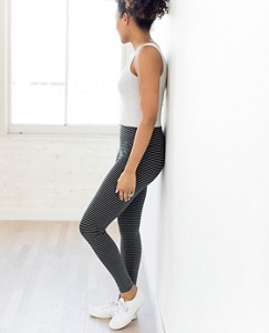 Women's Signature Striped Leggings by Hanna Andersson