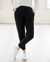 Women's Cropped Pant In French Terry by Hanna Andersson