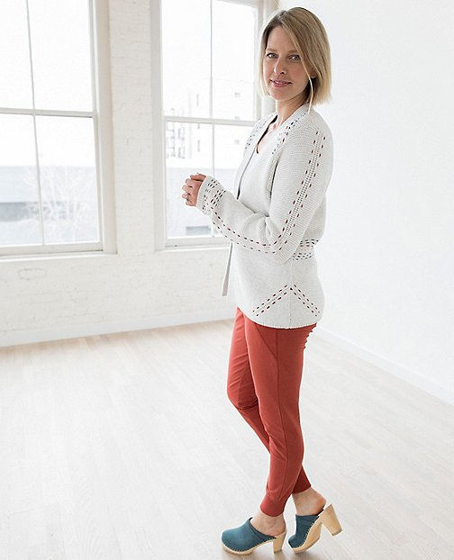 Women's Modern Folk Cardigan In Cotton And Wool by Hanna Andersson