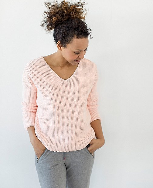 Women Honeycomb Stitch Sweater by Hanna Andersson