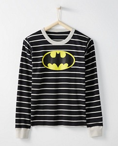 Justice League BATMAN™ Adult Long John Pajama Top In Organic Cotton by Hanna Andersson
