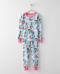 Justice League WONDER WOMAN™ Organic Girls Long John Pajamas by Hanna Andersson
