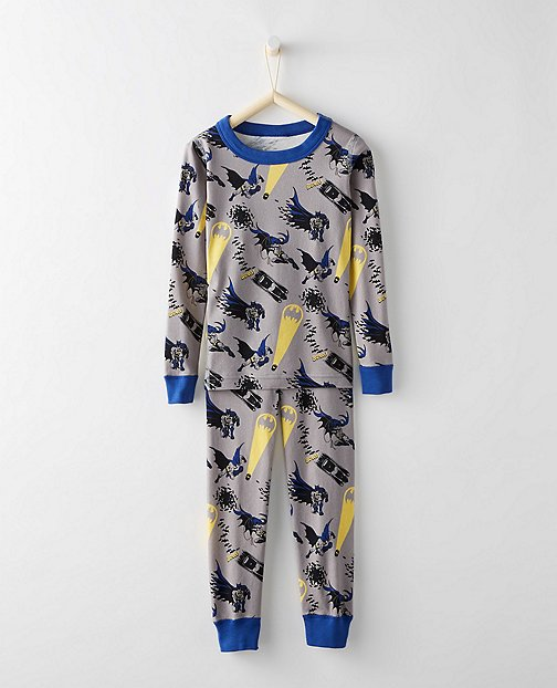 Justice League BATMAN™ Kids Long John Pajamas In Organic Cotton by Hanna Andersson