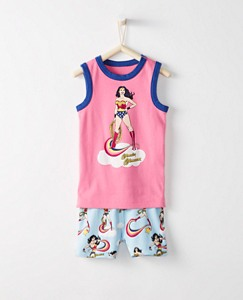 Justice League WONDER WOMAN™ Kids Organic Short John Pajamas by Hanna Andersson