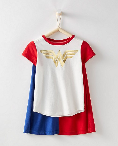Justice League WONDER WOMAN™ Girls Tee & Cape Set by Hanna Andersson
