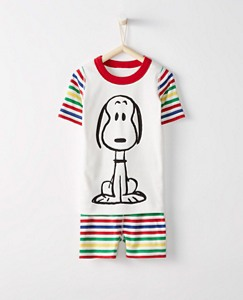 Peanuts Kids Short John Pajamas In Organic Cotton by Hanna Andersson