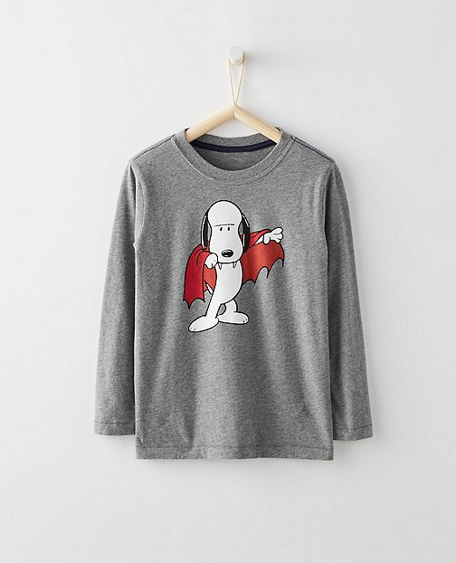 Peanuts Kids Glow In The Dark Tee In Supersoft Jersey by Hanna Andersson