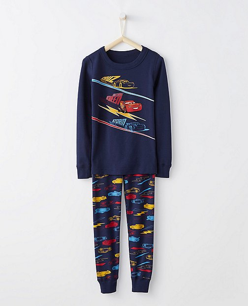 Disney•Pixar Cars 3 Kids Long John Pajamas In Organic Cotton by Hanna Andersson