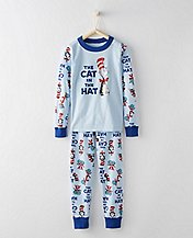 Dr. Seuss Kids Long John Pajamas In Organic Cotton by Hanna Andersson