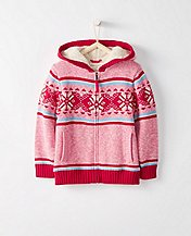 Kids Getting Warmer Sherpa Lined Sweater Hoodie by Hanna Andersson