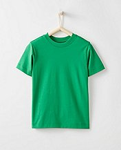 Bright Kids Basics Tee In Pima Cotton by Hanna Andersson
