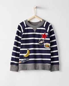 Boys All Play Sweatshirt In French Terry by Hanna Andersson
